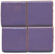 wisteria handmade tile by Clay Squared - can be mixed with other colors.