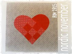 Pretty Things    : Nordic November Block of the Month - Danish Heart Posted by Debbie von Grabler-Crozier-I am sure that you have seen these around but they don't occur too often as a quilt block. I have 'translated' this one and what I have come up with is very simple to make...There is no template for this pattern, I will give you the measurements as we go along.