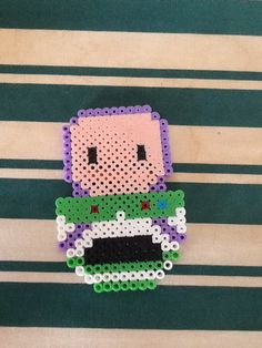 Buzz Toys Story perler beads by Justine Trahan