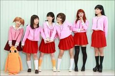 Group cosplay of the Azumanga girls