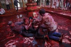 Il tempio di Radha a Barsana, 21 marzo 2013 (AP Photo/Kevin Frayer)