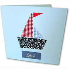 fathers day card, sailing ship card, cards to make for fathers day