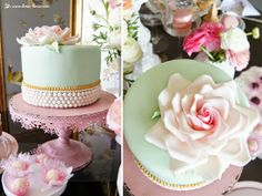 the cake for this shabby chic tea party