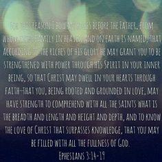 Ephesians 3:14-18
