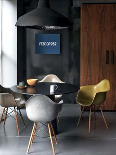 Plastic Dining Chairs, Eames (Vitra/H.Miller)
