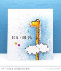 Handmade card from Francine Vuilleme featuring Sweet Safari