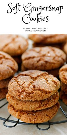 Baking Recipes, Cookie Recipes, Dessert Recipes, Desserts, Soft Gingersnap Cookies, Baby Biscuit Recipe, Ginger Snap Cookies, Molasses Cookies, Ginger Snaps