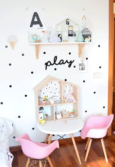 How cute is this playing nook? http://petitandsmall.com/room-tour-girls-room-nordic-style/ #interior