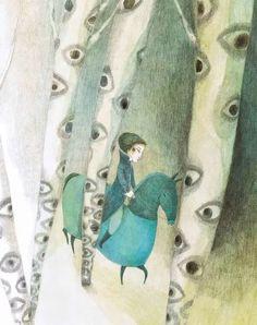 """Élodie Nouhen, illustration for """"Contes""""."""