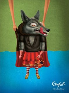 Comfort Fabric Conditioner: Good Soak, Wolf Sees Red