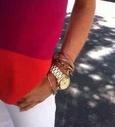 love my michael kors watch and alex and ani bracelets
