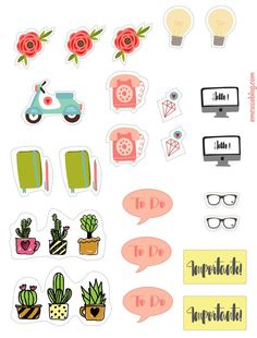 Free Planner Stickers                                                                                                                                                                                 Mais