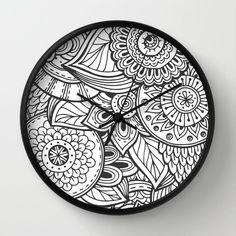 Mandala Clock, Cool Mandala Clock, Modern Clock, The Mandala Clock, Black Mandala clock, modern Mandala clock