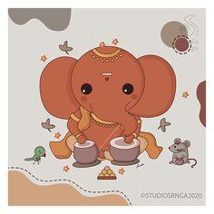 Ganesha Drawing, Lord Ganesha Paintings, Ganesha Art, Art Drawings For Kids, Drawing For Kids, Easy Drawings, Diy Crafts For Boyfriend, Baby Ganesha, Ganesh Images