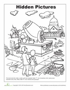 Pictures of Easy Hidden Pictures For Kids Printable - #rock-cafe
