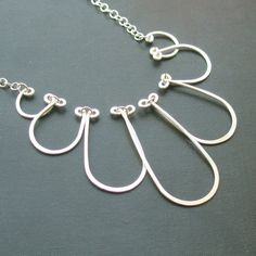 Falling Cloud Necklace - all sterling silver