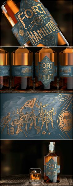 Bulletproof has Created the Brand Identity and Packaging Design for a New Premium Rye Whiskey for Fort Hamilton based in Brooklyn, New York Design Agency: Bulletproof Brand / Project Name: Fort Hamilton Location: United States America Category: #Spirits #Drinks