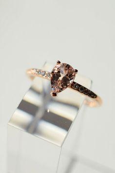 A reminder of her blushing cheeks. Pira Ring in 14k rose gold. myeldesign.com