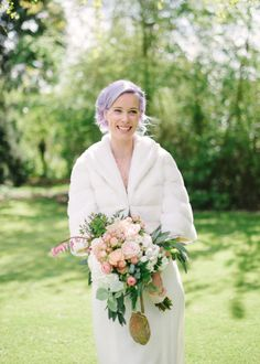 Beautiful bride with lilac hair | Photography by www.hannahduffy.com
