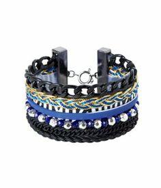 Bracelet brésilien femme bleu - Promod