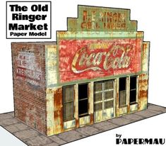 PAPERMAU: The Old Ringer Market Paper Model - by Papermau - Download Now!
