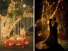 decoração casamento ao ar livre a noite com vela - Pesquisa Google