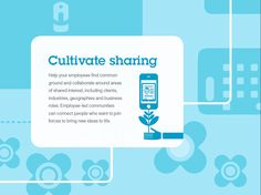 Cultivate sharing.