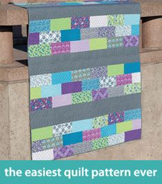 the easiest quilt pattern ever