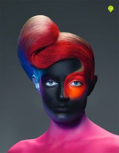 Here are some very colorful beauty shots made by the Spanish photographer Paco Peregrín. Eye Makeup, Glam Makeup, Real Techniques Brushes, Maquillaje Halloween, Beauty Shots, Fantasy Makeup, Crazy Hair, Creative Makeup, Creative Photography
