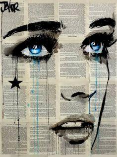 "Saatchi Art Artist Loui Jover; Drawing, ""falling star"" #art"