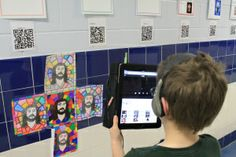 QR code stations written by the students...fun!