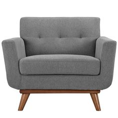 Modway Engage Upholstered Armchair - DescriptionGently sloping curves andlarge dual cushions create a favorite lounging spot.Modway Engage Upholstered Armchair - DescriptionGently sloping curves and large dual cushions create a f