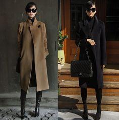 İngiltere Marka 2015 Sonbahar Kış Kadın Basit Siyah Kahverengi Kaşmir Yün Maxi Uzun Coat Nibbuns Kadın Palto Casacos femininos