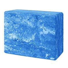 HIEGOO Yoga Blocks 9x6x3 EVA Foam Brick Provides Stability and Balance Improve Strength and Deepen Poses  Perfect for Yoga Pilates  Home Workout Blue *** Learn more by visiting the image link.