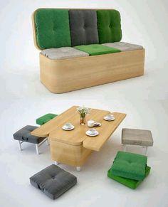 Muebles Multifuncionales que Ahorran Espacio