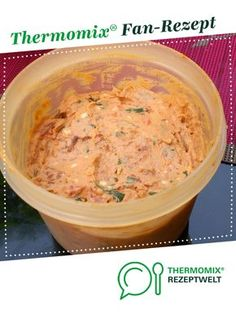 Cream cheese dip with tomatoes from BrigitteReul. A Thermomix ® recipe from the Ka . - Cream cheese dip with tomatoes from BrigitteReul. A Thermomix ® recipe from the Sauces / Dips / Sp - Healthy Chicken Recipes, Veggie Recipes, Crockpot Recipes, Pesto Dip, Cream Cheese Dips, Seafood Dishes, Cheese Recipes, Tasty Dishes, Finger Foods