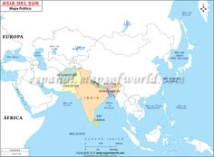 mapa del sur de asia mapa de asia del sur south asia mapsoutheast