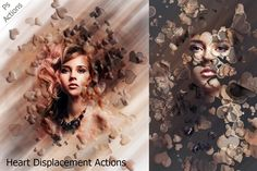 Heart Displacement - Ps Action by ArtPlanet on @creativemarket