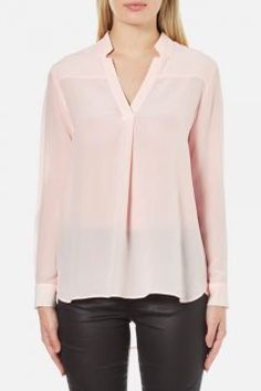 French Connection Women's Super Silk Shirt - Capri Bush - M https://modasto.com/french-ve-connection/kadin-ust-giyim-gomlek-bluz/br121ct4