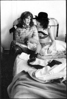The New York Dolls. David Johansen et Syl Sylvain. Paris, novembre 1973, Alain Dister