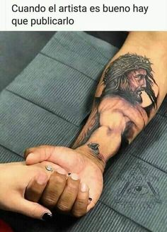 The best tatoo Jesus 3d Tattoo, Tattoo Jesus Cristo, Jesus Tattoo Design, Christ Tattoo, Body Tattoo Design, Forarm Tattoos, Baby Tattoos, Arm Tattoos For Guys, Body Art Tattoos