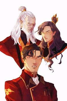 My first take on Avatar/Korra universe: Old Zuko, Firelord Izumi and Iroh II. Legend of Korra - Zuko, Izumi, Iroh II Avatar Aang, Avatar Airbender, Avatar Legend Of Aang, Team Avatar, Avatar Cartoon, Avatar Funny, Iroh Ii, The Legend Of Korra, The Last Airbender