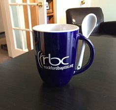 """""""We hand out these mugs to first time visitors at our church to welcome them!"""""""