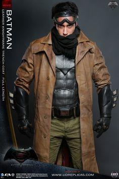 Batman DOJ Replica - Leather Knightmare Trench Coat Image 3