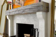 Unique and eclectic fireplace design. #interiors #design #interiordesign #decor www.Porch.com