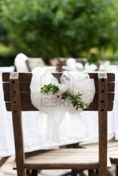 Detail of countryside wedding decoration textile chair bow with & 107 best tiebacks for chairs images on Pinterest | Wedding chairs ...