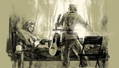 Peace Walker: Paz and Kaz. This picture breaks my heart on so many levels.
