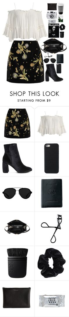 """""""Untitled #2860"""" by wtf-towear ❤ liked on Polyvore featuring Topshop Unique, Sans Souci, Office, 3.1 Phillip Lim, Royce Leather, Balenciaga, Bobbi Brown Cosmetics, NARS Cosmetics, American Apparel and Carven"""