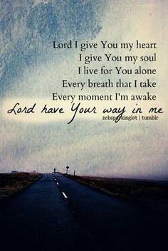 I surrender all :-)