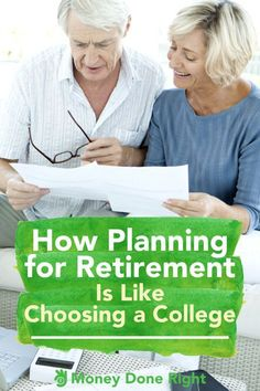 7 Steps: How Planning for Retirement Is Like Choosing a College Retirement Countdown, Retirement Savings Plan, Preparing For Retirement, Early Retirement, Retirement Planning, Umbrella Insurance, Financial Tips, Financial Planning, Improve Your Credit Score